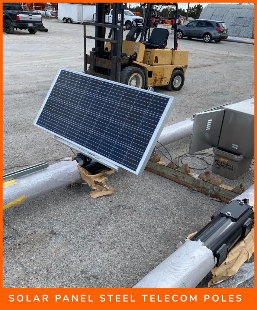 Solar Panel Steel Telecom Poles@2x