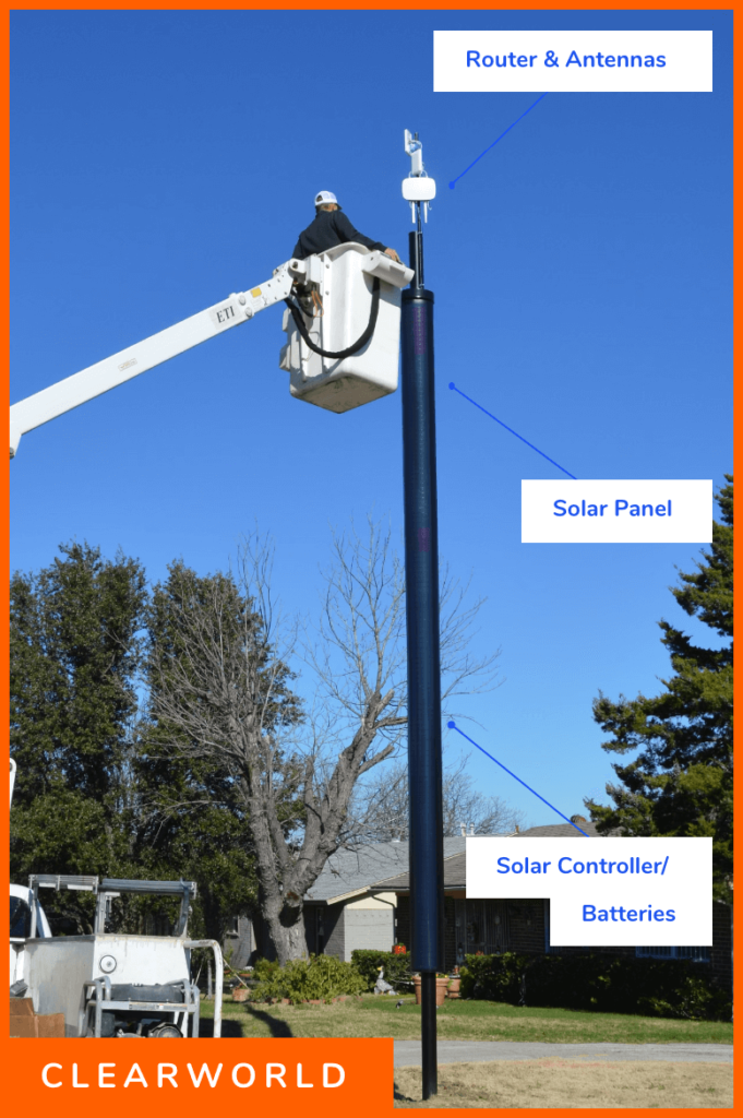 Clearworld Solar Pole